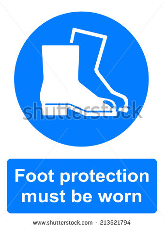 Mandatory Action Sign Wear Foot Protection Stock Vector 204467692.