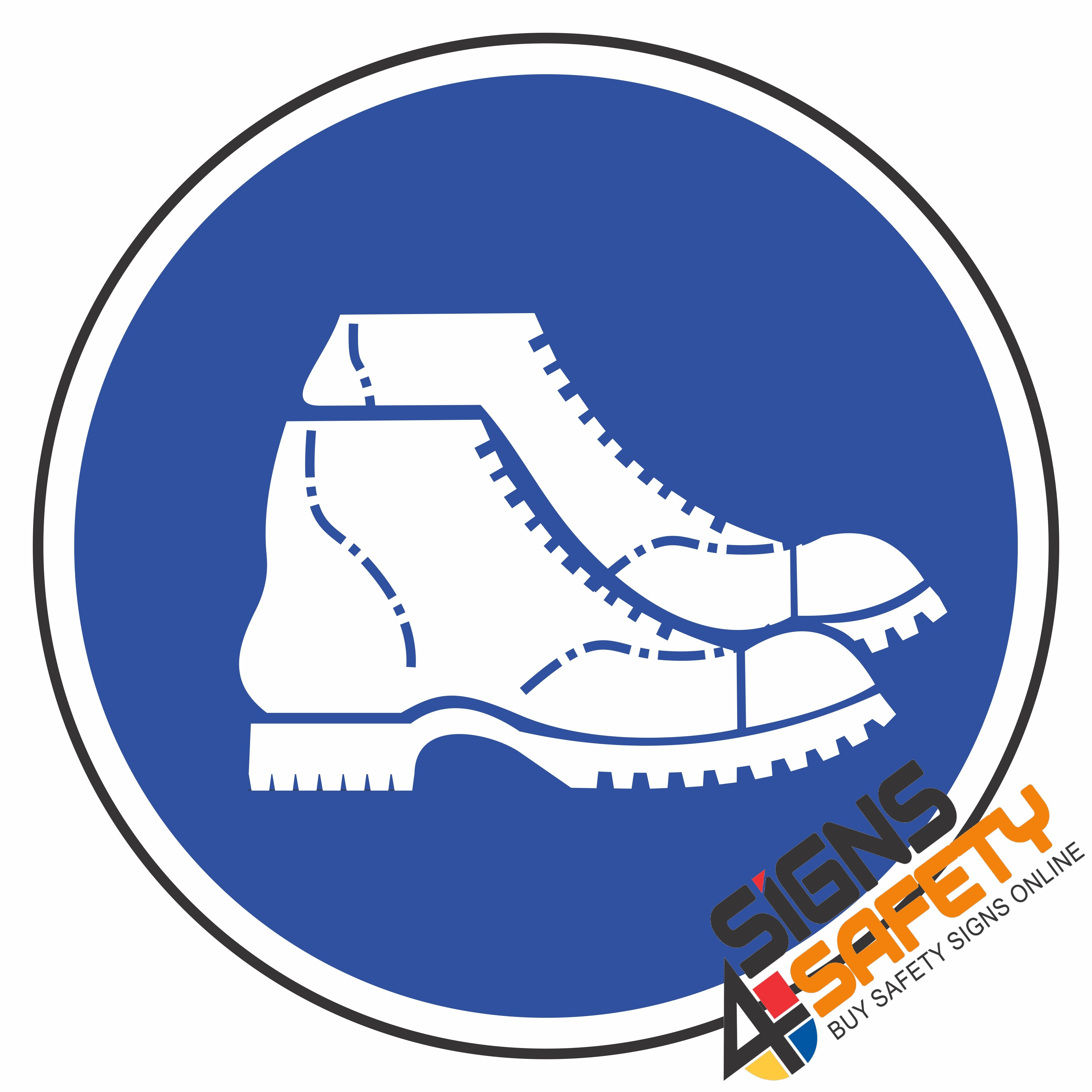 MV7) Foot Protection Mandatory Sign.