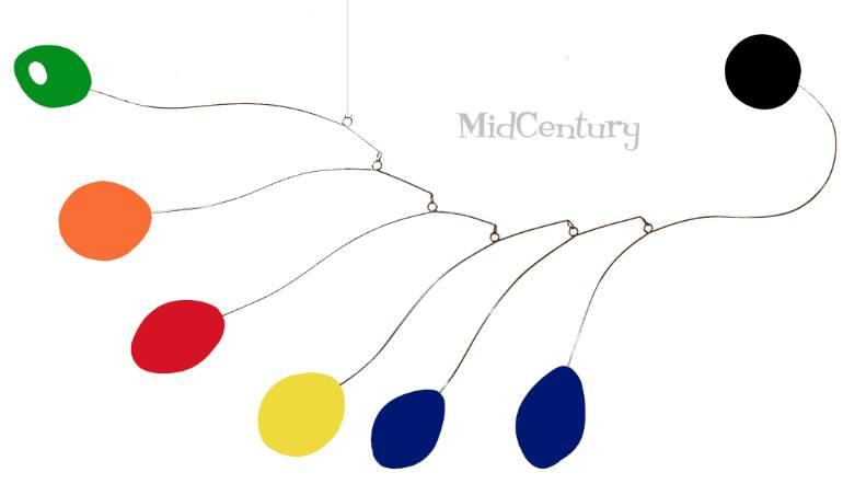 Saatchi Art: Midcentury HUGE ART MOBILE 6 FOOT.