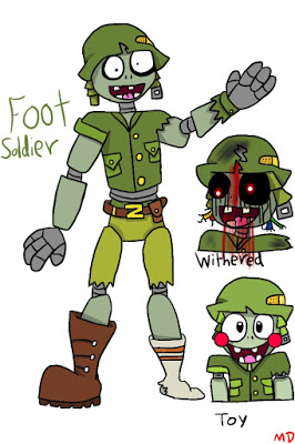 Foot Soldier FNaPvZ by FLAMINGBOWSER.
