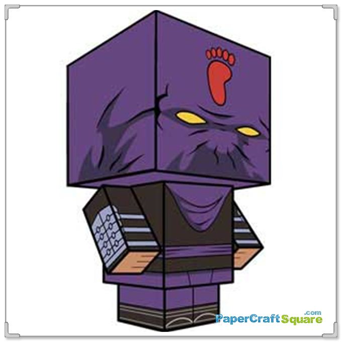 TMNT Classic Foot Soldier Papercraft (Cubee).