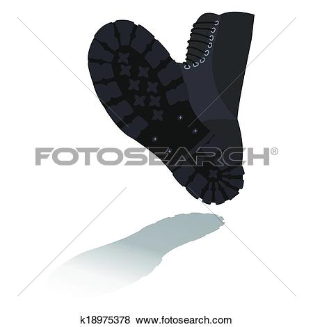 Clip Art of Foot soldier in military boots k18975378.