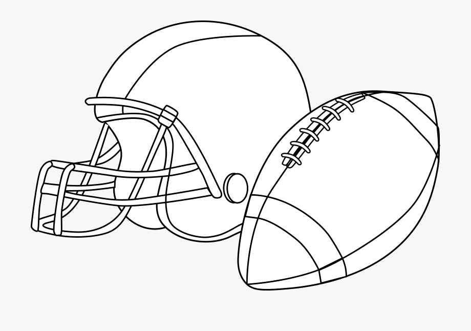 Football And Helmet Clipart #124175.