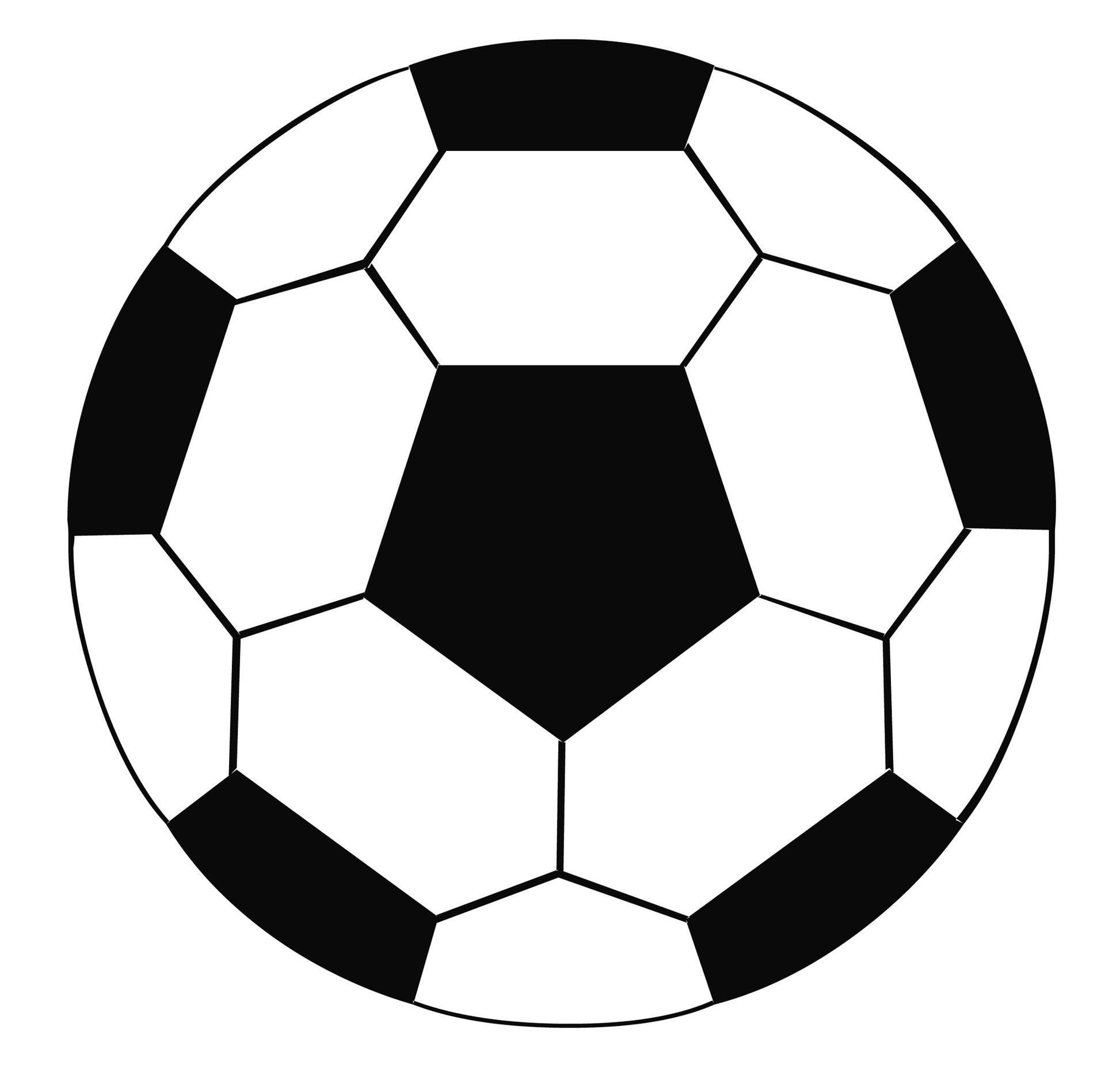 White soccer ball clipart.