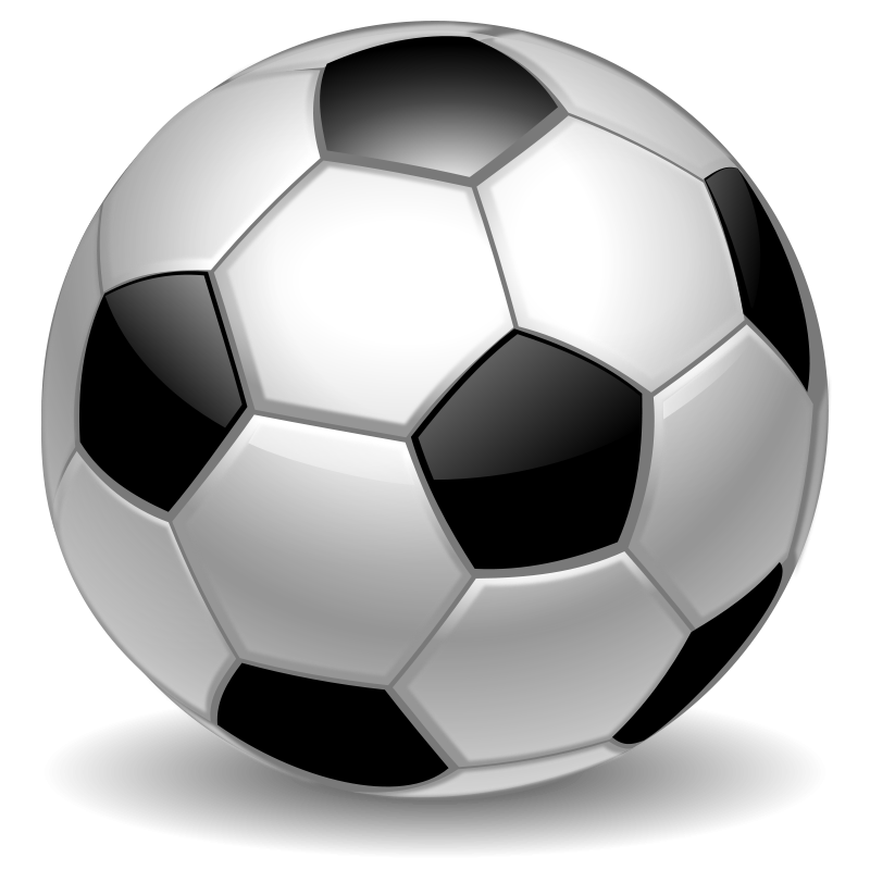 Soccer Ball Motion Clipart.