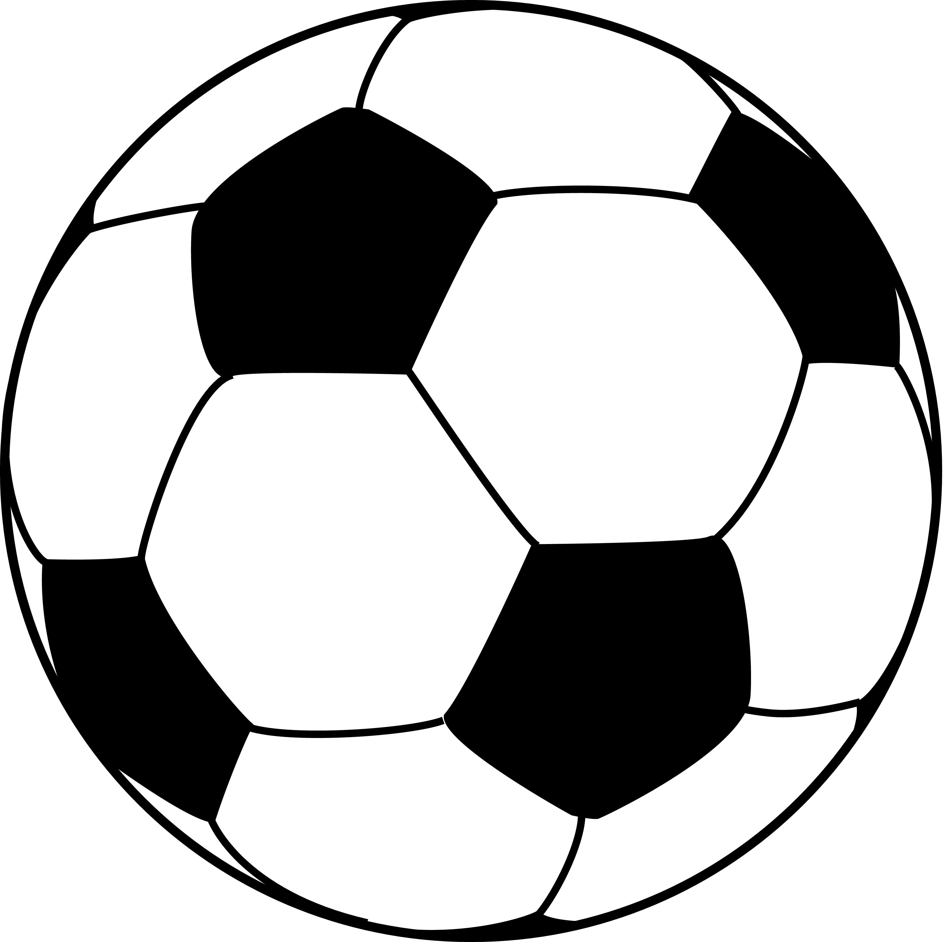 Soccer ball clipart vector free.