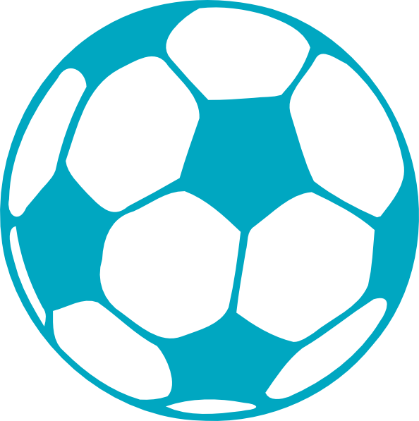 Aqua Soccer Ball Clip Art at Clker.com.
