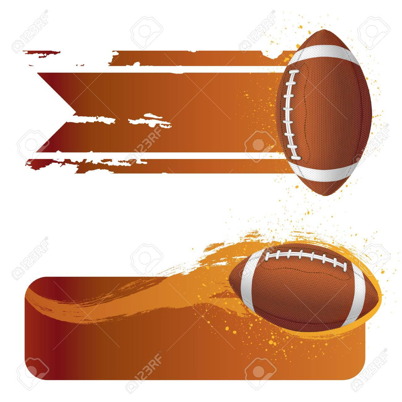 american football with grunge banner.