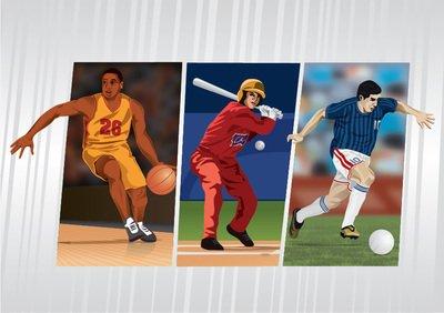 Basketball baseball football sports, Vector Image.