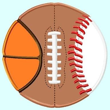 Basketball Baseball Cliparts.