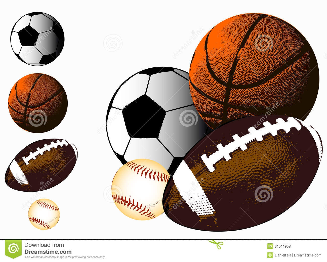 Baseball Football Basketball Clipart#2016302.