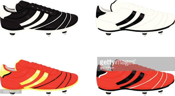 Football Boot Icons Vector Art.