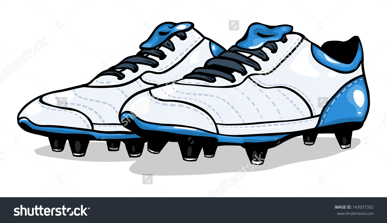 Vector White Football Boots Stock Vector 143931502.