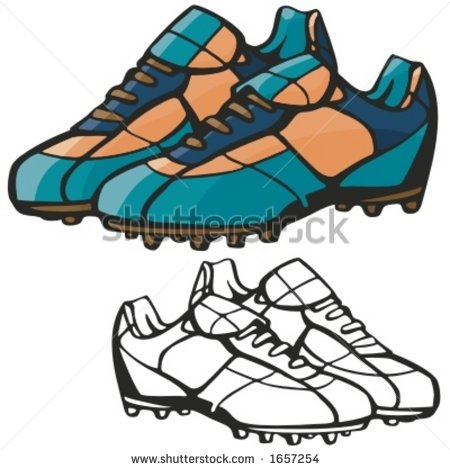 Rugby boots clipart.