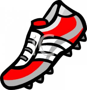 Football cleat clip art.