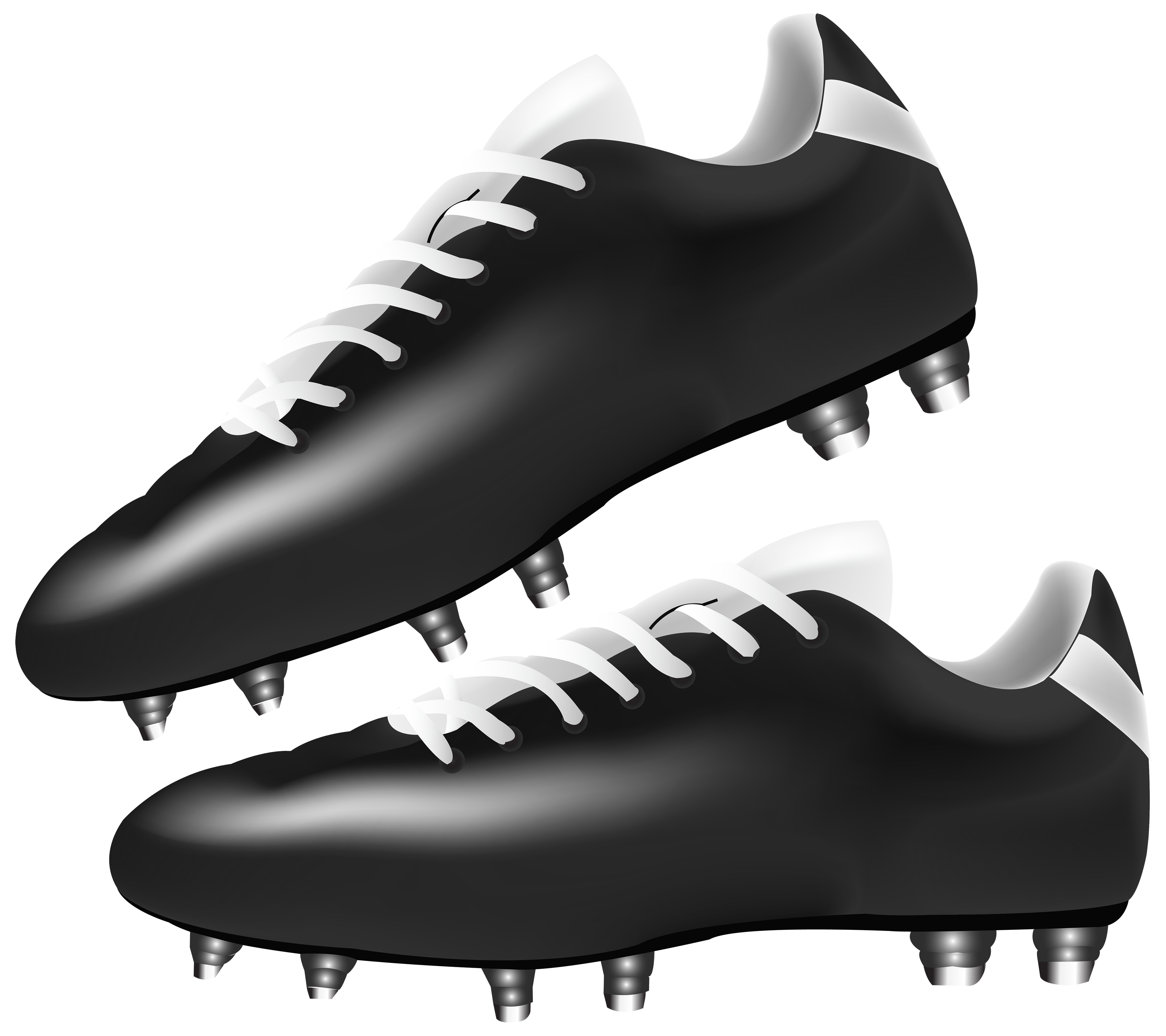 Black Football Boots PNG Clipart.