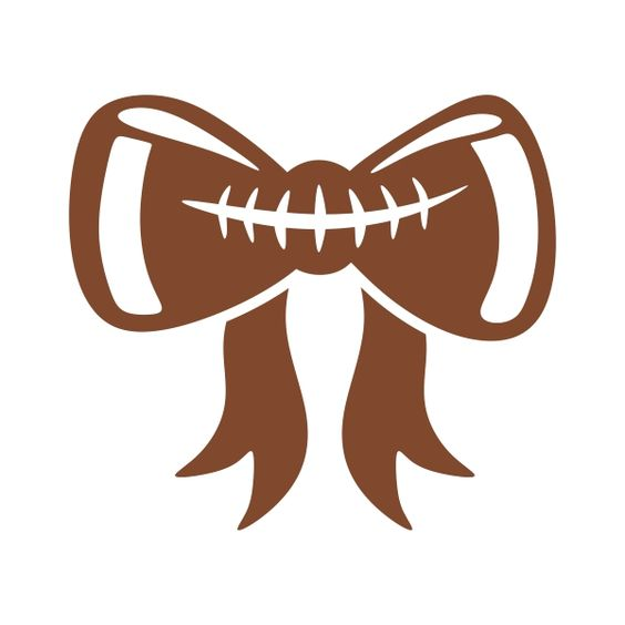 Football clipart with bow.