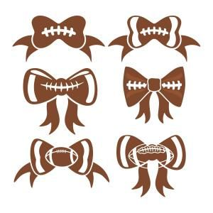 Football Bow SVG Cuttable Designs.