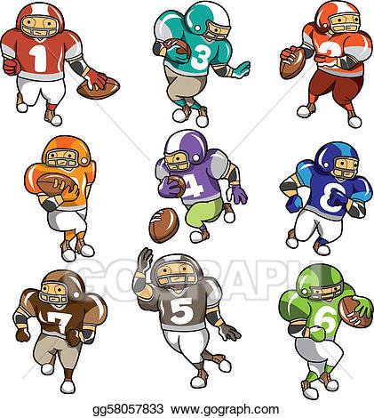 Cartoon football players clipart 6 » Clipart Station.