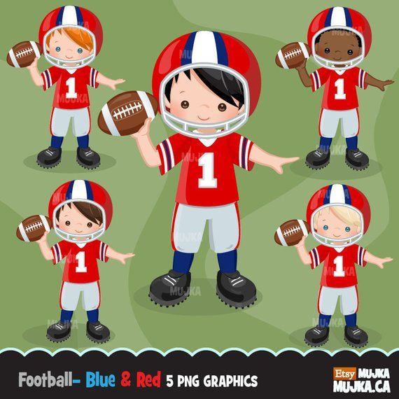Football clipart. Sport graphics, boys american player.