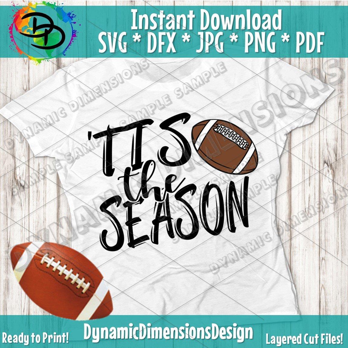 Tis The Season svg, Football Cut File, svg, Football mom, football clipart,  dxf, png, Football svg, Silhouette, Cricut, Digital Download.