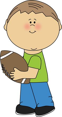 Kid Carrying Football.