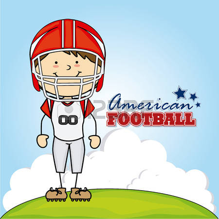 411 Kids American Football Stock Vector Illustration And Royalty.