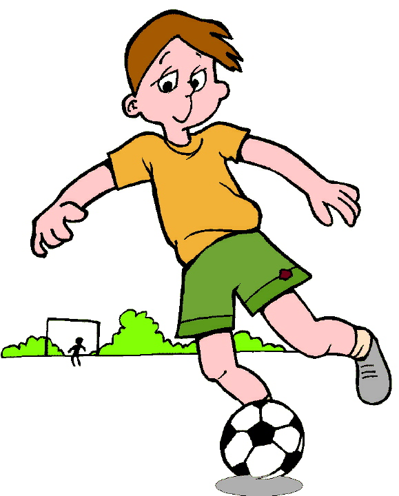 Kid Football Player Clipart.