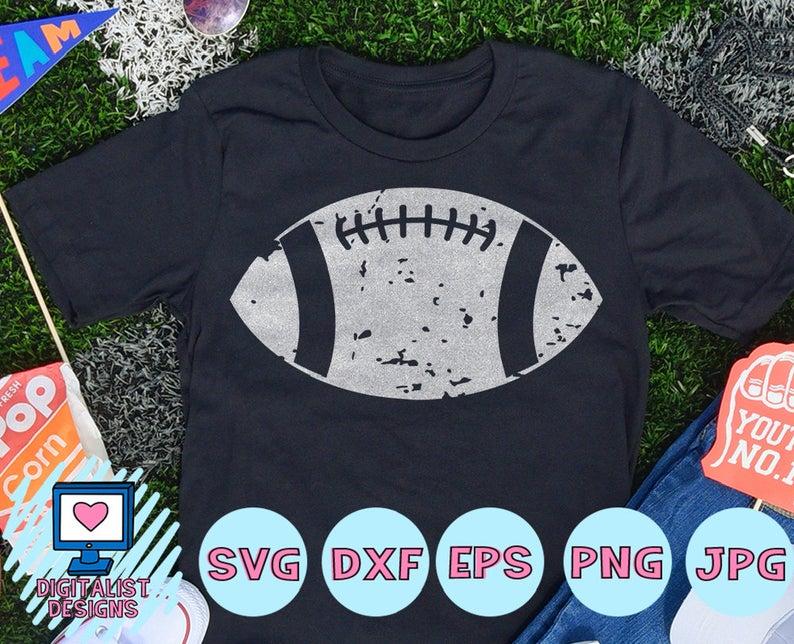 football svg, football clipart, football shirt, football decal, cricut,  silhouette, grunge vector, svg cut file, distressed.