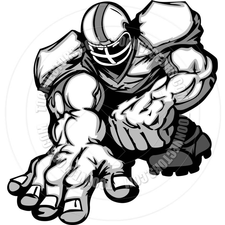 Football Lineman Clipart.