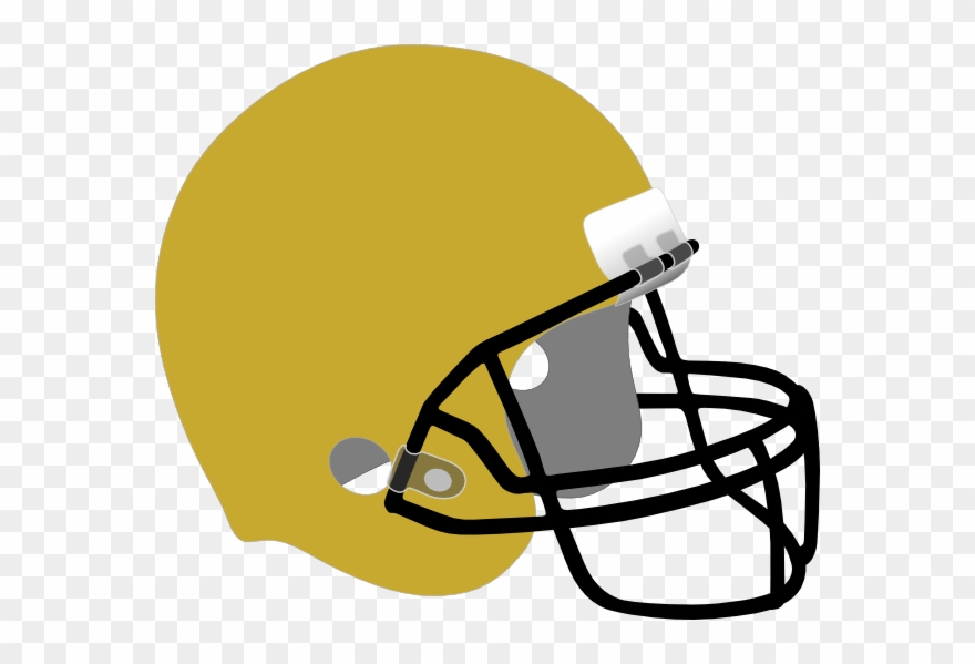 Black And Gold Football Helmet Clipart (#1437871).
