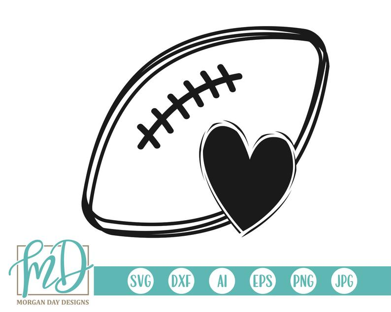 Football SVG, Football Heart SVG, Football Outline SVG, Football Mom svg,  Icon svg, Noun svg, Football Sister svg, Clipart, Biggest Fan svg.