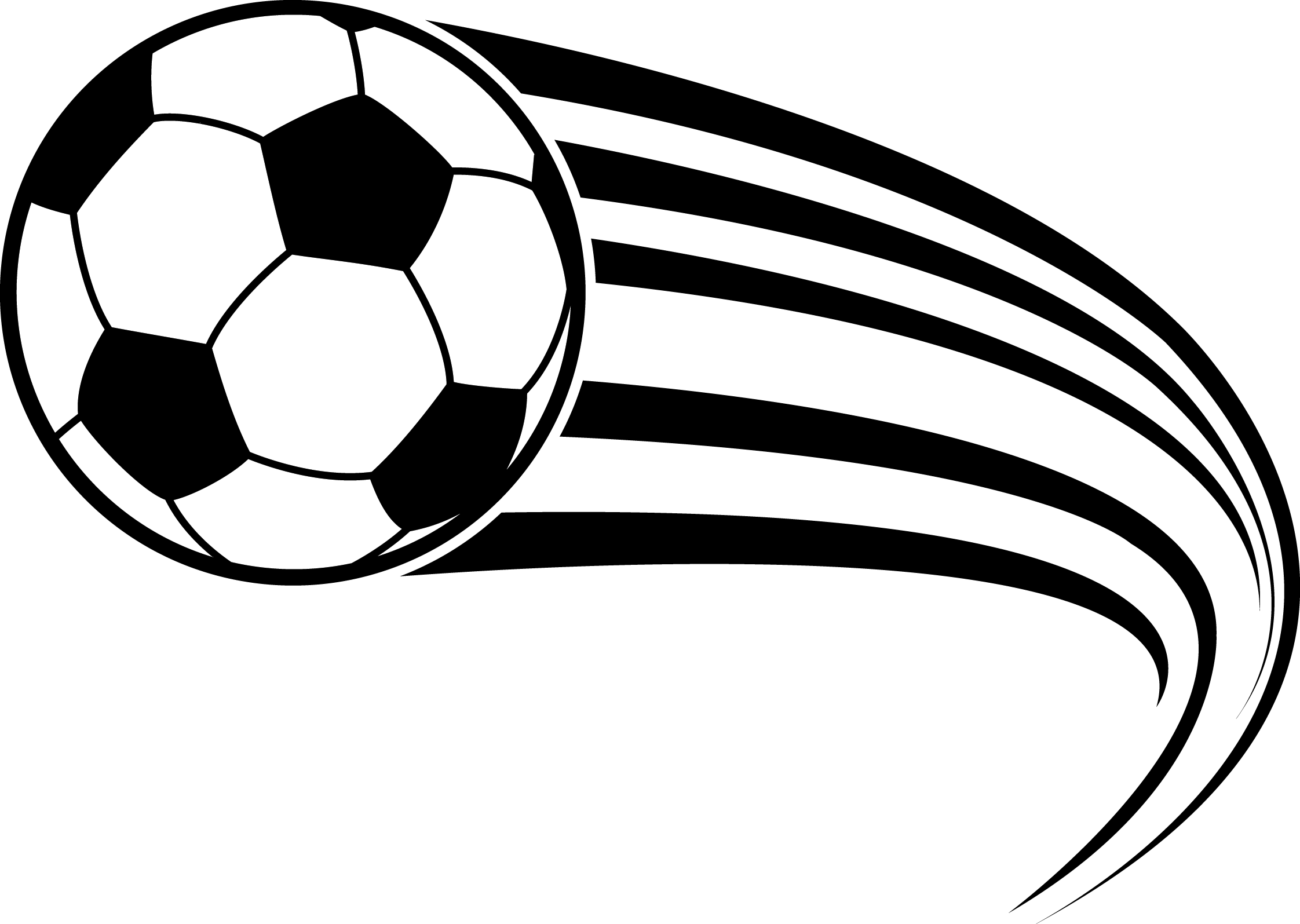 Football Black And White Clipart.
