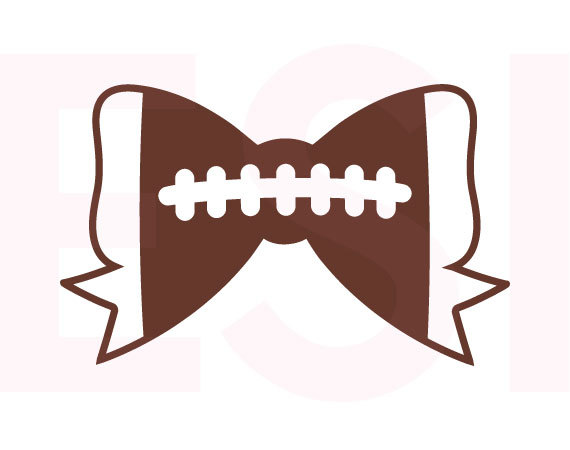Football Bow SVG, DXF, EPS, svg cutting files for use in.