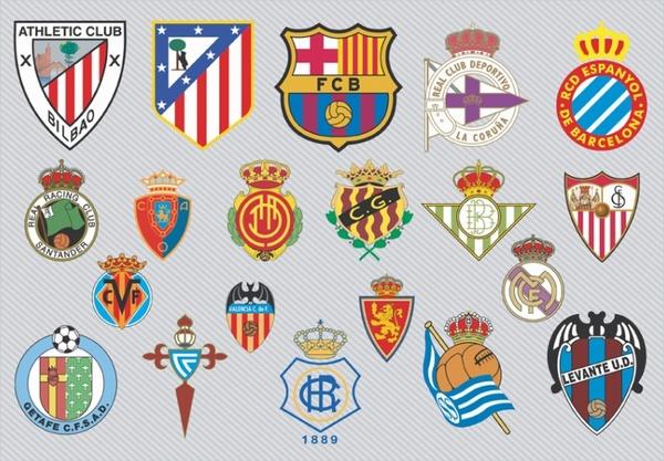 Spanish Football Team Logos Free vector in Adobe Illustrator.