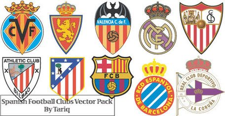 Spanish Football Club Logos Clipart Picture Free Download.