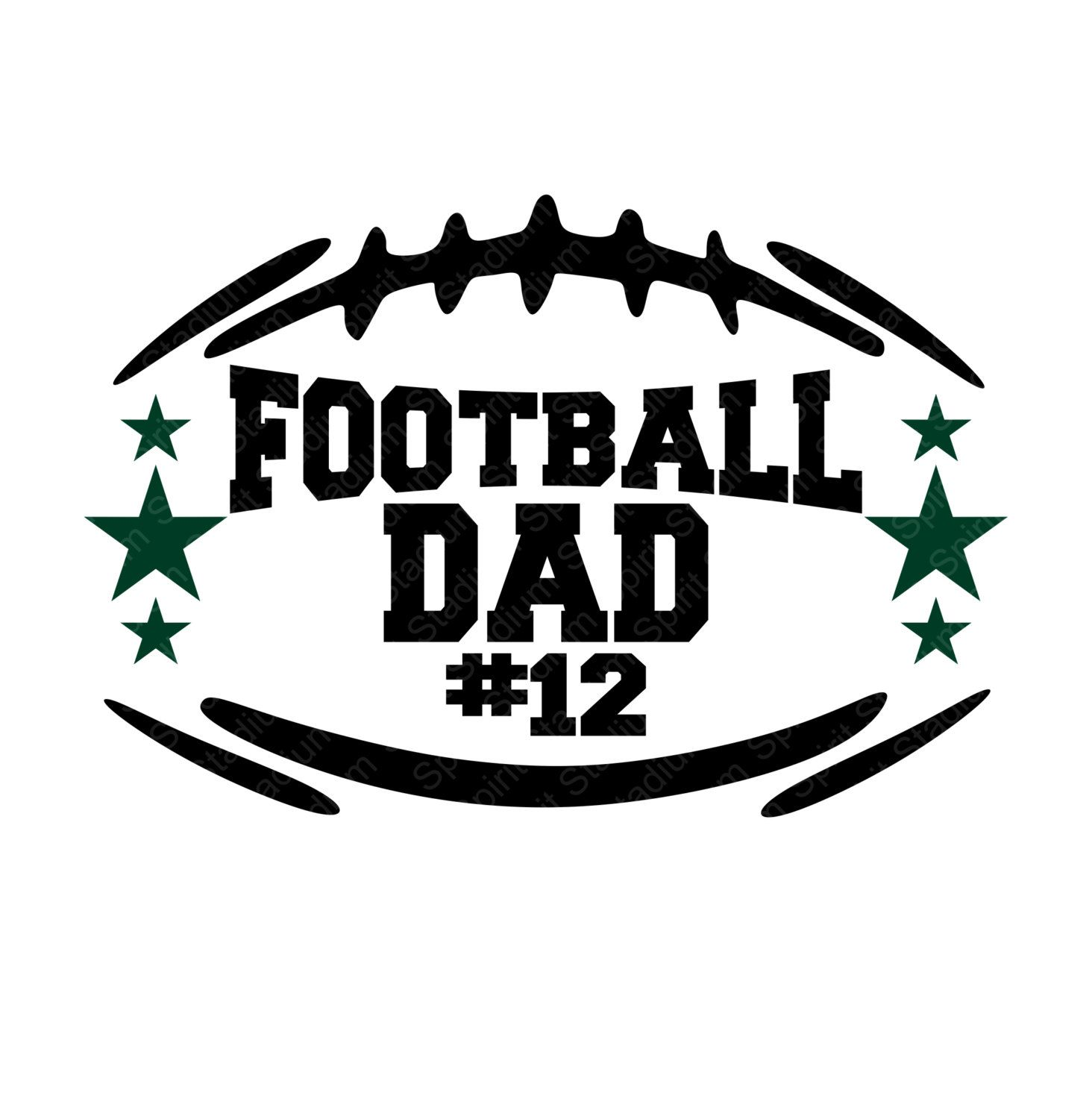 Football Dad Shirt with Players Number.