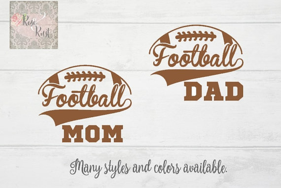 Football Mom Decal, Football Dad Decal, Sports Decals.