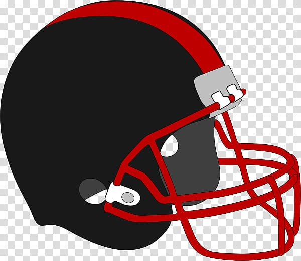 NFL American Football Helmets , black and red transparent background.