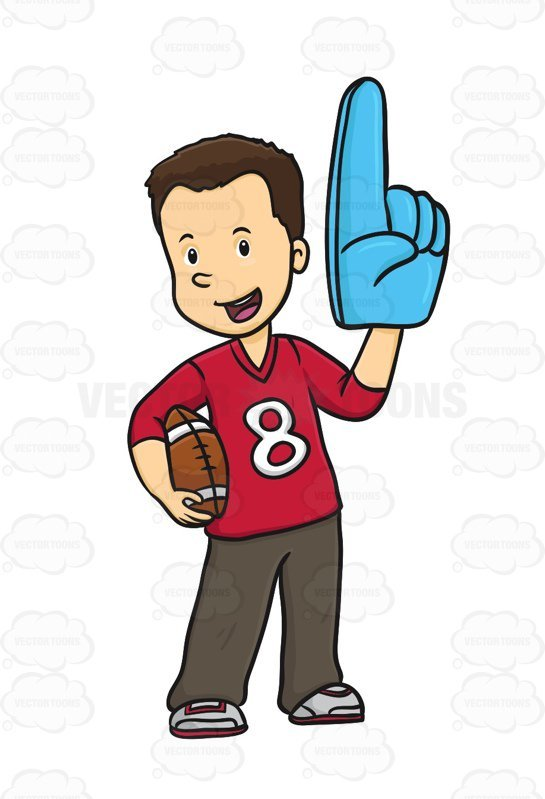 Football fan clipart 8 » Clipart Portal.