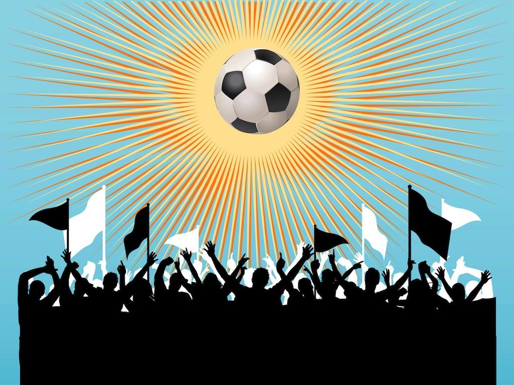 Football Fans Vector.