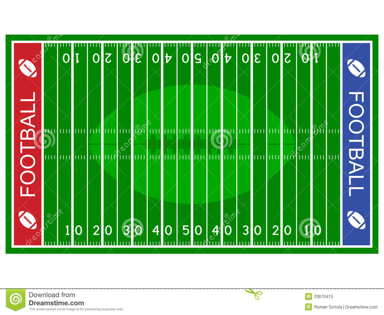 Football field clipart free.