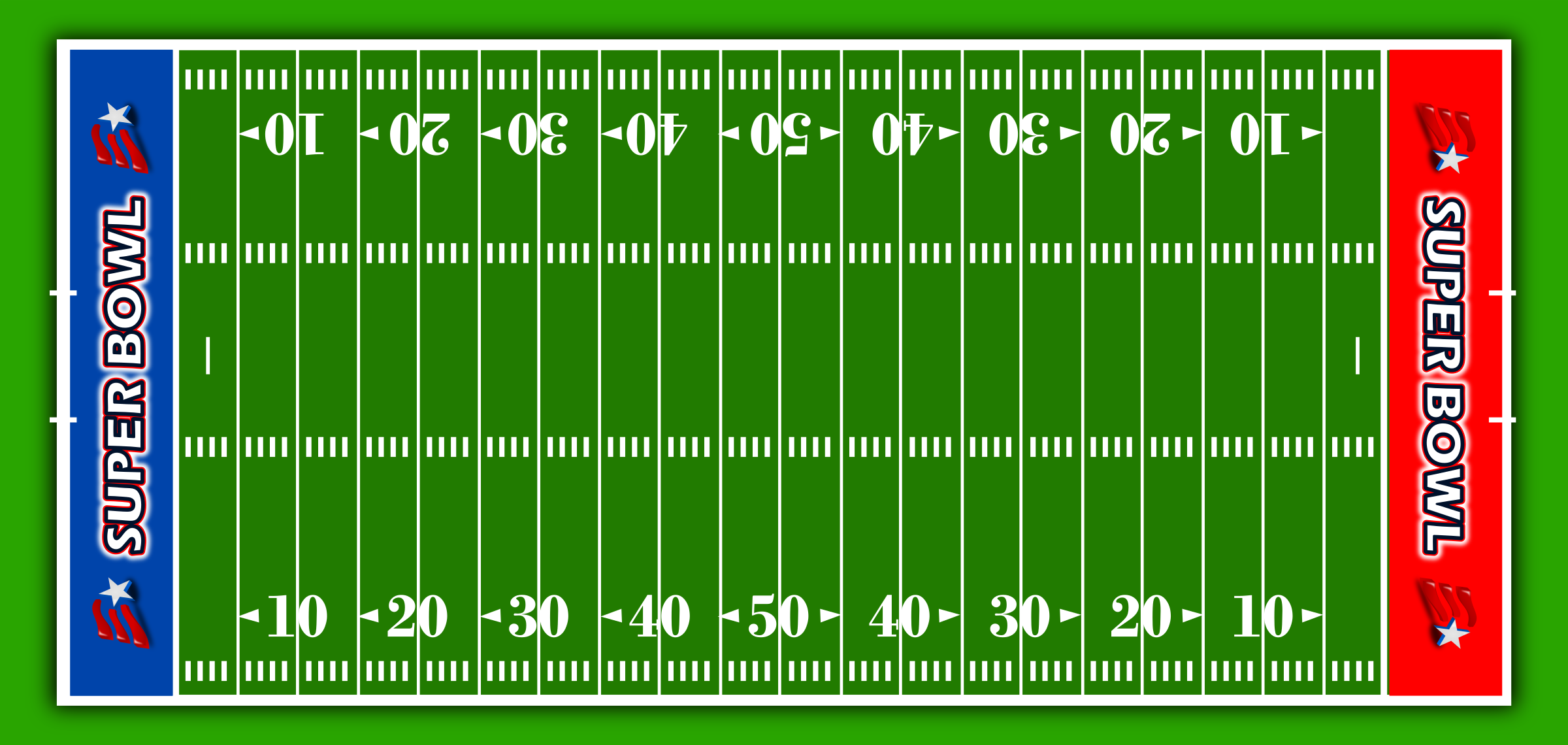 Football field clipart images.