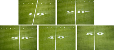 30 Yard Line On American Football Field Stock Photography.