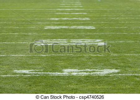 Stock Image of Football Field Numbers.