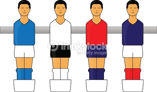 Table Football Figures With European Uniforms 1 Vector Art.