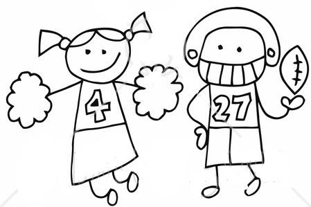 Football Cheerleader Clipart.