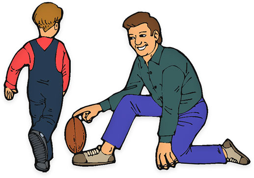 Father figure clipart.