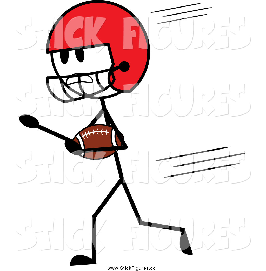 Royalty Free Football Player Stock Stick Figure Designs.