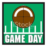 Football Game Day Emblem Stock Vector.